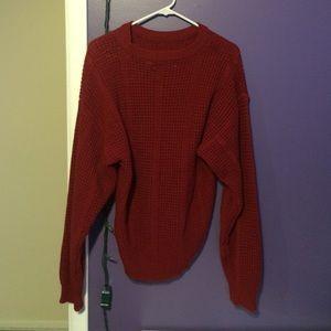 Saturdays Nyc Sweaters - Saturday's Maroon Sweater