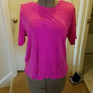 Preston & York Tops - Pink cotton t-shirt by Preston York size L
