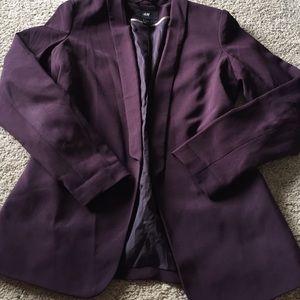 H&M Jackets & Coats - Plum Boyfriend Blazer
