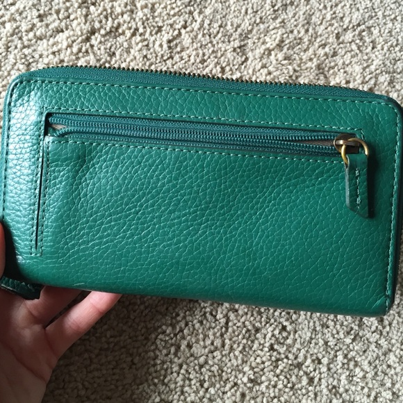Fossil Bags - Fossil green leather wallet