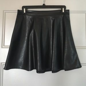 Vegan Leather Skater Skirt