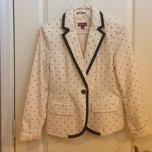 NWT size 4 Merona polka dot blazer