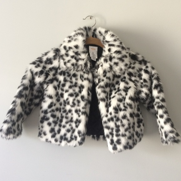 Gymboree Jackets Amp Coats Girls Faux Fur Dalmatian Print