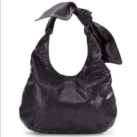 53% off Furla Handbags - 100% Authentic Furla black snakeskin hobo ...