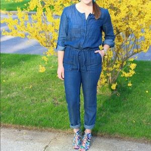 LOFT denim jumpsuit