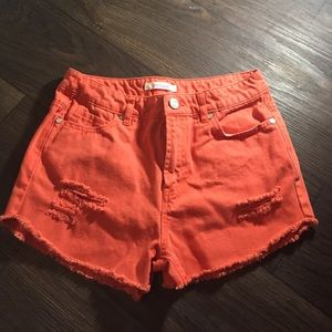 refuge Pants - Colored Distressed High Wasted Shorts 💕