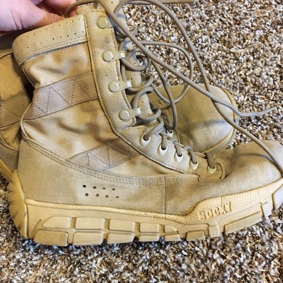 Rocky C4 trainer desert tan combat boots size 9.5.  M 57a77046291a358fc1007307 186e828d2