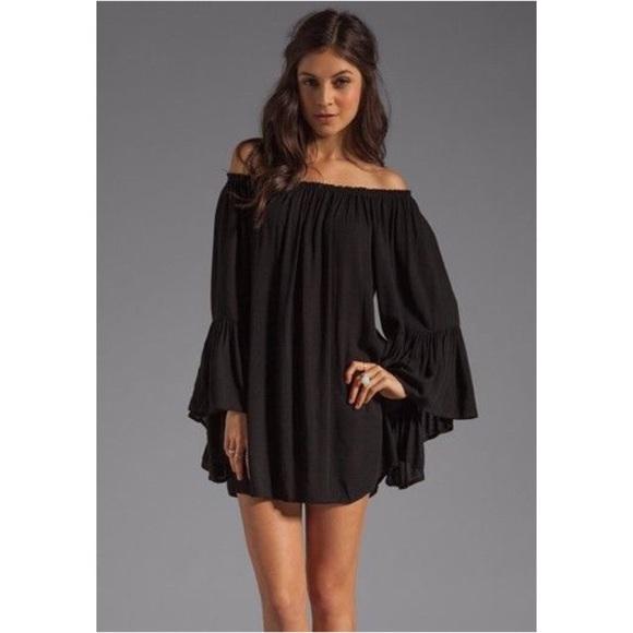 b9db23931cf5 Elan Dresses   Skirts - Elan Ruffle Sleeve Off Shoulder Tunic