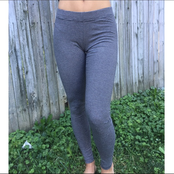 fa5088c0f9008 Garage Pants | Black Gray Striped Leggings | Poshmark