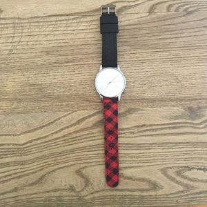Komono Accessories - Komono the Winston Watch plaid and leather strap