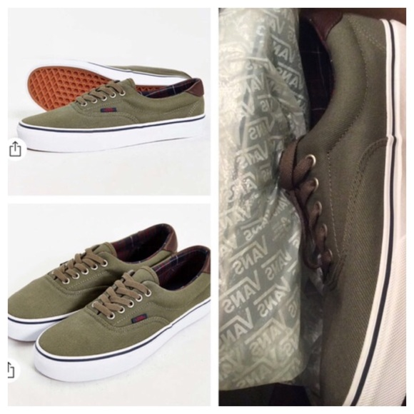 93521870e1 Urban Outfitters Vans Era 59 Olive Green Sneakers