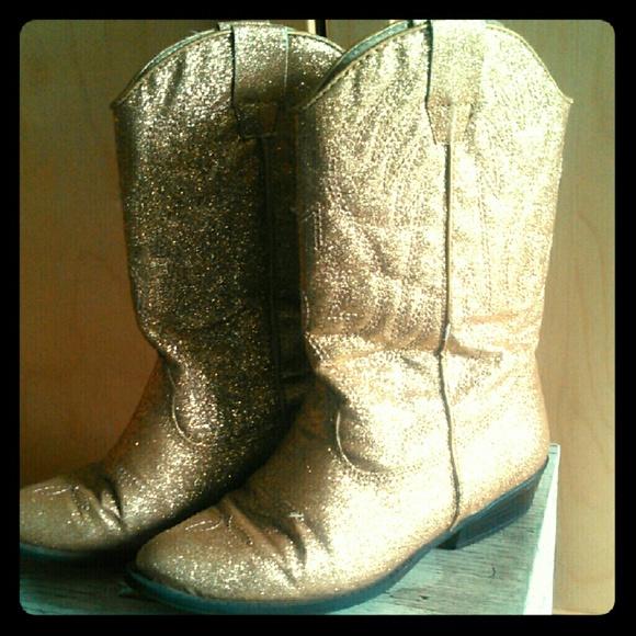 Glitter Girls Cowboy Boots Size 1