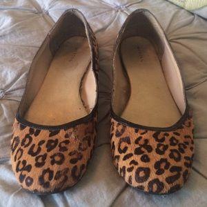 Merona pony hair leopard ballet flats