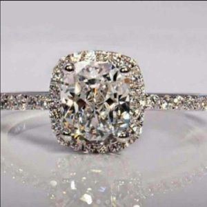 Petite Simulated Diamond Ring 6 7 8