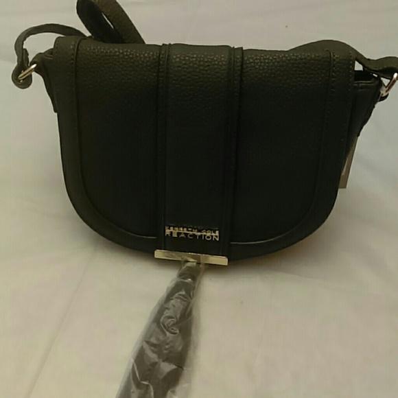 Kenneth Cole Reaction Saddle Mini Crossbody Bag Black