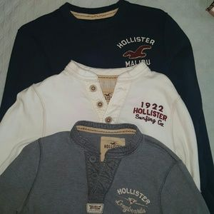 Hollister  Other - Set of 3 long sleeve men's Hollister shirts
