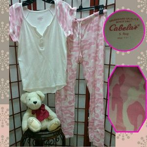 Cabela s Intimates   Sleepwear - Disc.shipping Small Cabella s 2pc pink ... e8bc3ae68