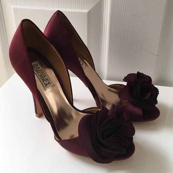 d8fdab903ab9 Badgley Mischka Shoes - Badgley Mischka  Blossom  Maroon d Orsay Pumps