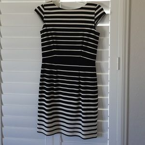 Ann Taylor loft: 0P stripe fitted dress