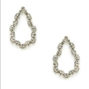 Cara Couture Jewelry - Cara Couture Clear Crystal Teardrop Earrings