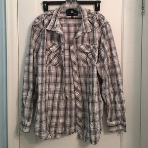 Ocean Current Other - XX • Ocean Current Black/White Plaid Top