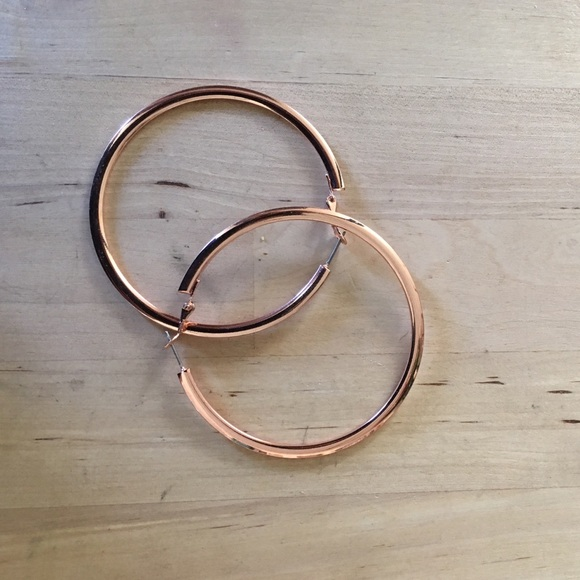 68 off Express Jewelry Express rose gold hoop earrings from