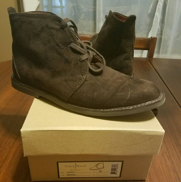 67% off Cole Haan Other - Boys Cole Haan Chukka boots size 6 from ...