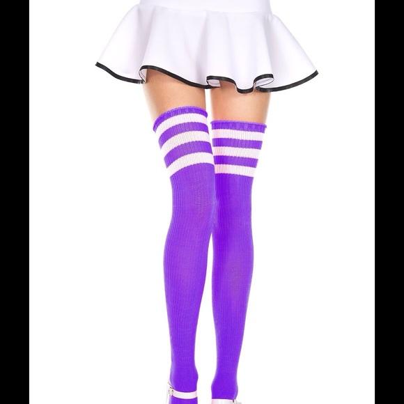 f1d97deb09792 Accessories | Purple Thigh High Socks | Poshmark
