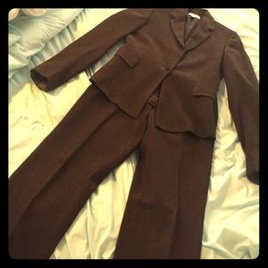 Barneys New York Other - Barneys New York Brown Wool Suit, Size 6