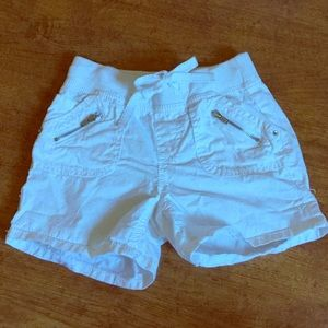 Justice Other - Justice white elastic waist shorts, size 10 slim