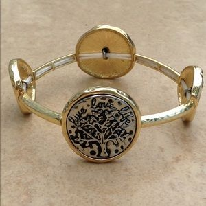 Jewelry - Two Tone Inspirational Family Tree Bracelet