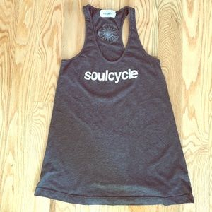 SoulCycle Gray Racerback Tank