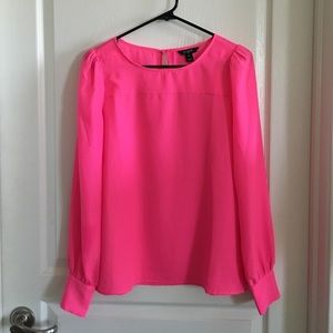 J Crew Factory Hot Pink Blouse Size XS
