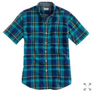 J. Crew Other - J. Crew | Short-sleeved plaid shirt