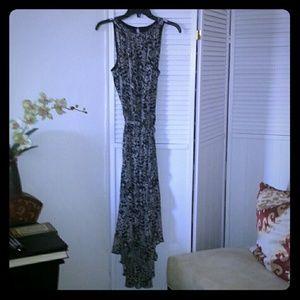 MSK Dresses & Skirts - MSK. Flowing  Hign low DRESS with tassel belt
