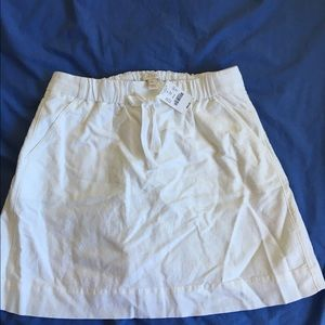 J CREW white skirt. Never worn, NEW WITH TAGS
