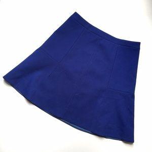 J. Crew Cobalt Blue Fit Flare Skirt SZ 00