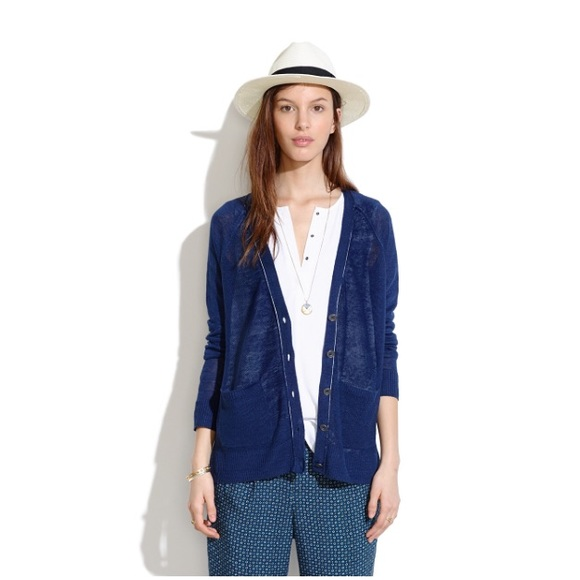 75% off Madewell Sweaters - Madewell Lightweight Navy Cardigan ...