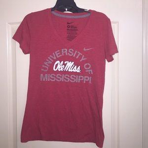 Vintage Ole Miss v-neck T-shirt