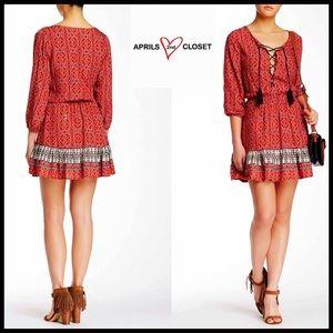 Boutique Dresses & Skirts - ❗️1-HOUR SALE❗️BOHO DRESS TASSEL FRINGE Mini