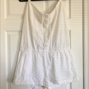 J CREW eyelet romper! NEW WITH TAGS