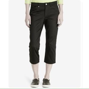 Liz Claiborne Pants - Lizgolf Audra Cropped Capri pants 12 Black golf