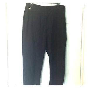 Liz Claiborne Pants - Lizgolf Audra Cropped Capri pants 12 Black golf