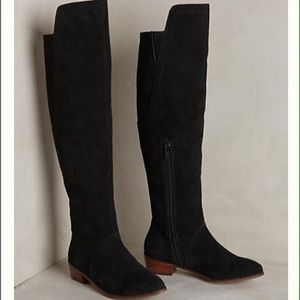 Kelsi Dagger Shoes - Kelsi Dagger 'Valerie' Suede Over the Knee Boots