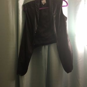 bebe Jackets & Blazers - Satin and sequin vest