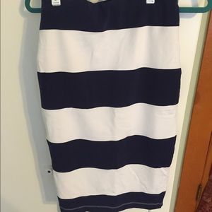 Jo-Jo Dresses & Skirts - Navy Blue and white pencil skirt