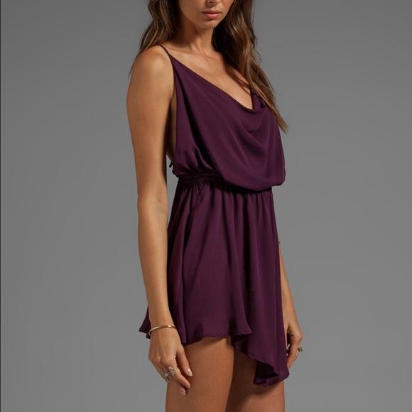 805db67715 Indah Dresses   Skirts - Indah cowl neck silk cocktail dress