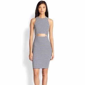 Torn by Ronny Kobo Dresses & Skirts - Striped blue And white torn by Ronny kobo NWT