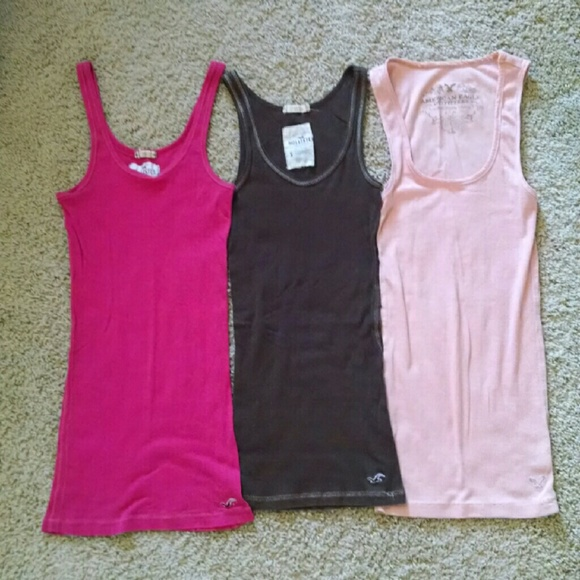 638280a3600dd Hollister Tops - Three Ribbed Tank Top Bundle  AE and Hollister