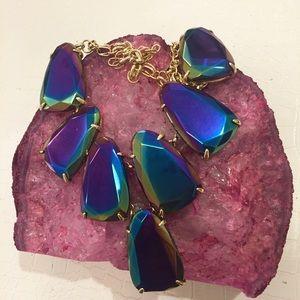 Kendra Scott Black Iridescent Harlow Necklace
